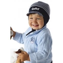 Cool boy czapka z daszkiem zawiązywana z podszewką.
