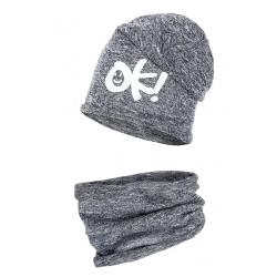 Komplet czapka komin (Tuba) Dziecinny ok cienka dzianinka.