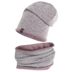 Koplet czapka komin podwójny.Swetrówka.