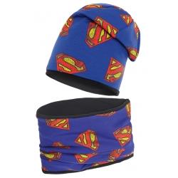 Komplet czapka i komin.Supermen. Podwójna.